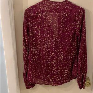 Converse Tops - Converse one star Size SX Plum blouse
